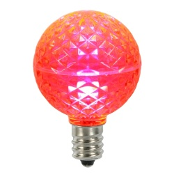 10 LED G50 Globe Pink Faceted Retrofit C9 Socket Replacement Bulbs