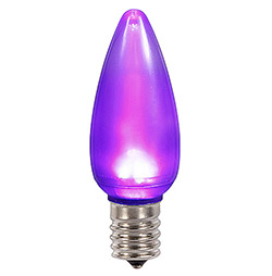 25 LED C9 Purple Ceramic Retrofit Replacement Bulbs