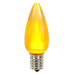 25 LED C9 Yellow Ceramic Retrofit Replacement Bulbs