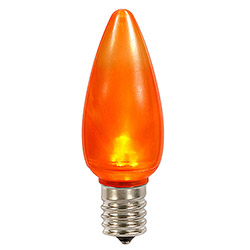25 LED C9 Orange Ceramic Retrofit Replacement Bulbs