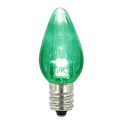 25 LED C7 Green Transparent Twinkle Night Light Retrofit Replacement Bulbs