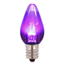 25 LED C7 Purple Transparent Night Light Retrofit Halloween String Replacement Bulbs