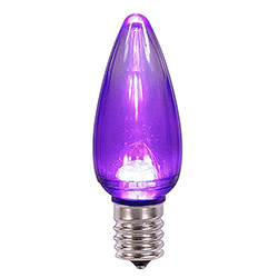 25 LED C9 Purple Transparent Retrofit Replacement Bulbs