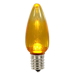 25 LED C9 Yellow Transparent Retrofit Replacement Bulbs