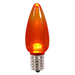 25 LED C9 Orange Transparent Retrofit Replacement Bulbs