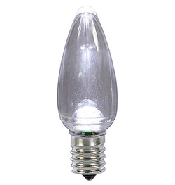 25 LED C9 Pure White Transparent Retrofit Replacement Bulbs