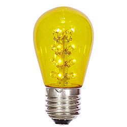 25 LED S14 Patio Transparent Yellow Plastic Retrofit Replacement Bulbs