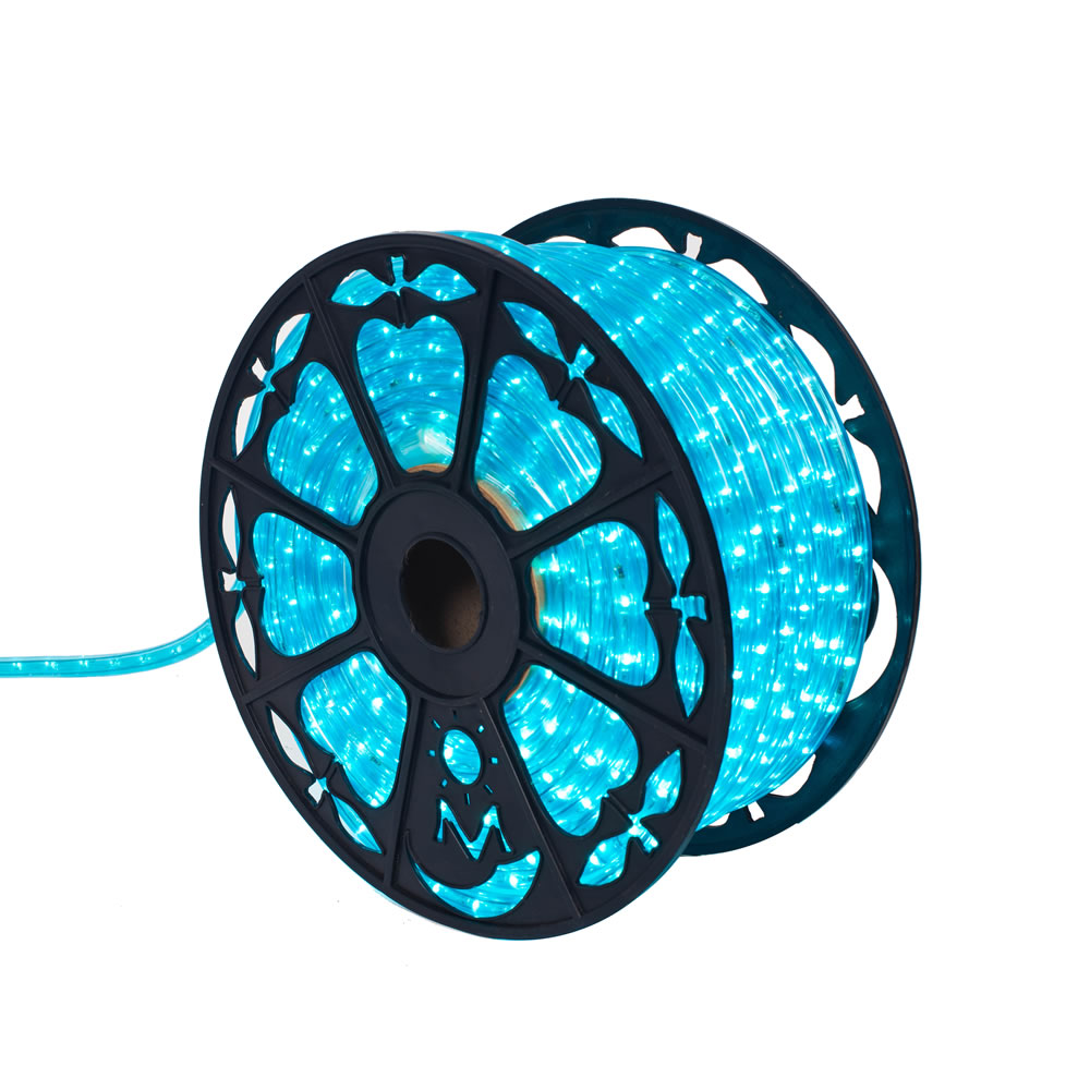 150 Foot x 0.5 Inch Fluorescent Turquoise LED Rope Light