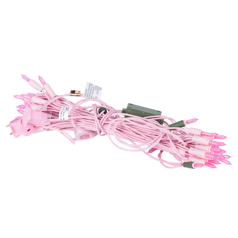 50 LED Dura-Lit Pink Mini String Light Set