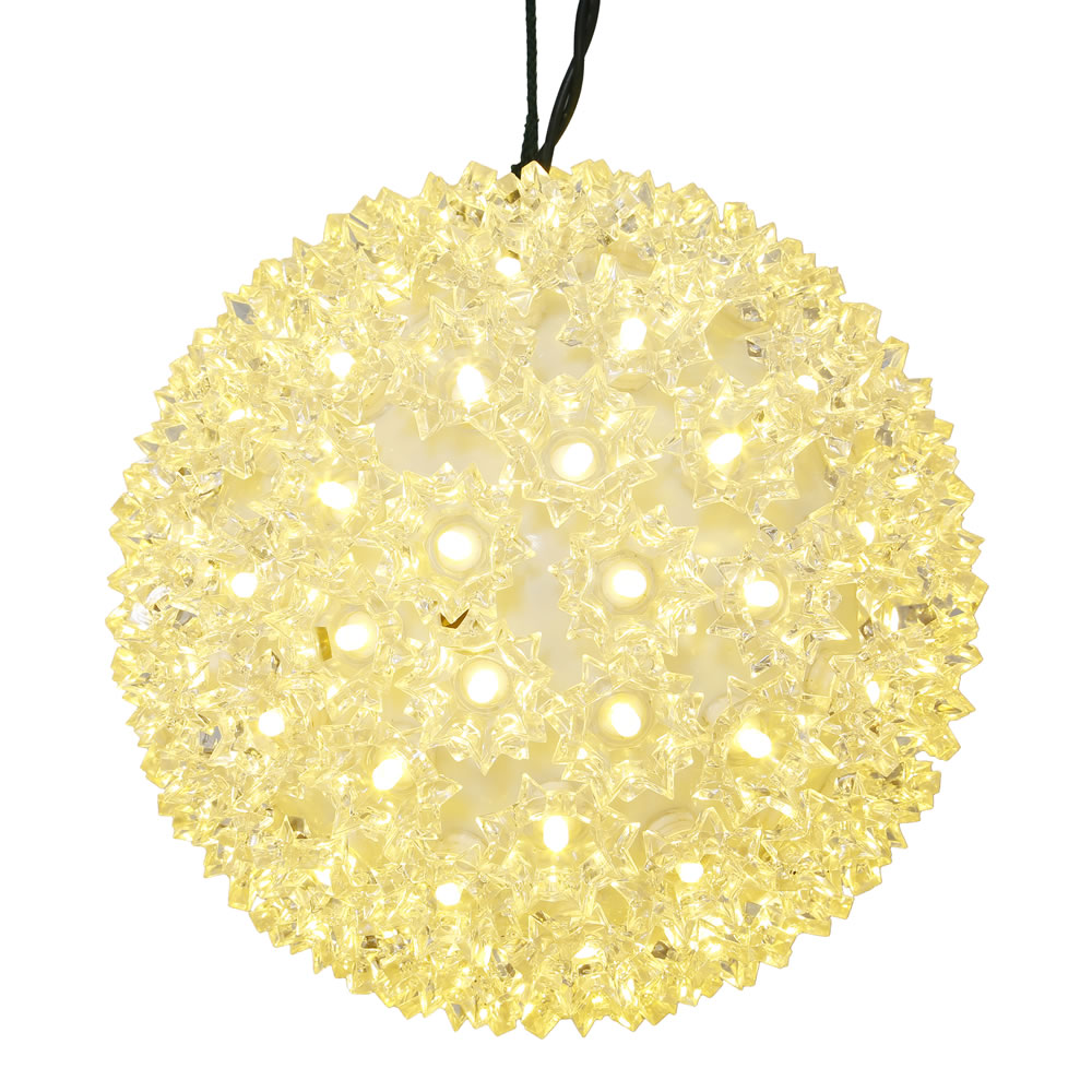 50 LED 5MM Wide Angle Polka Dot Starlight Sphere Warm White Lights