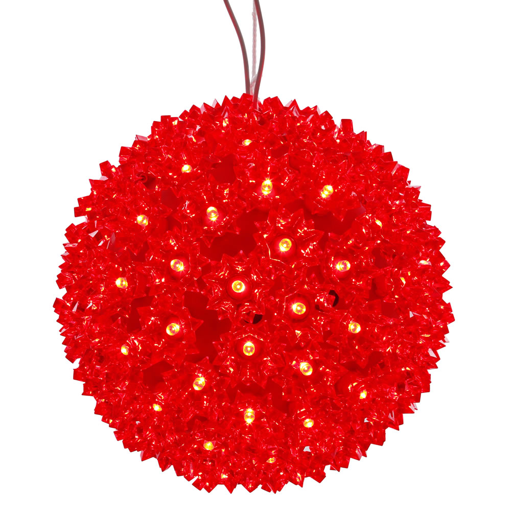50 LED 5MM Wide Angle Polka Dot Starlight Sphere Red Lights