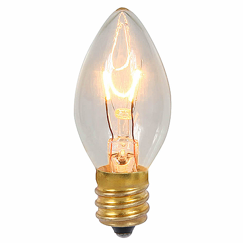 25 Incandescent C7 Clear Transparent Retrofit Night Light Replacement Bulbs