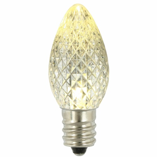 25 LED C7 Warm White Faceted Retrofit Night Light String Replacement Bulbs
