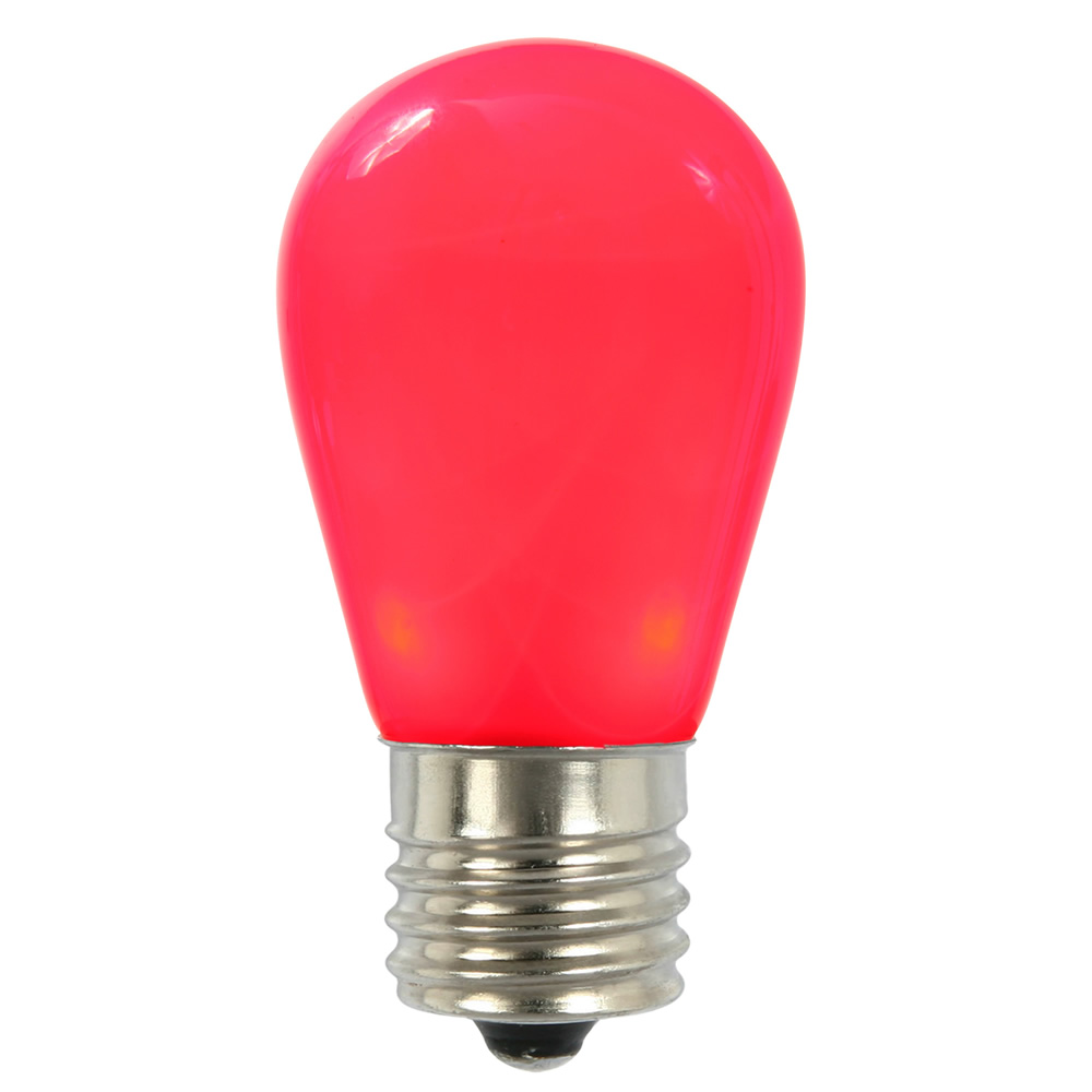 25 LED S14 Patio Ceramic Red Retrofit Replacement Bulbs