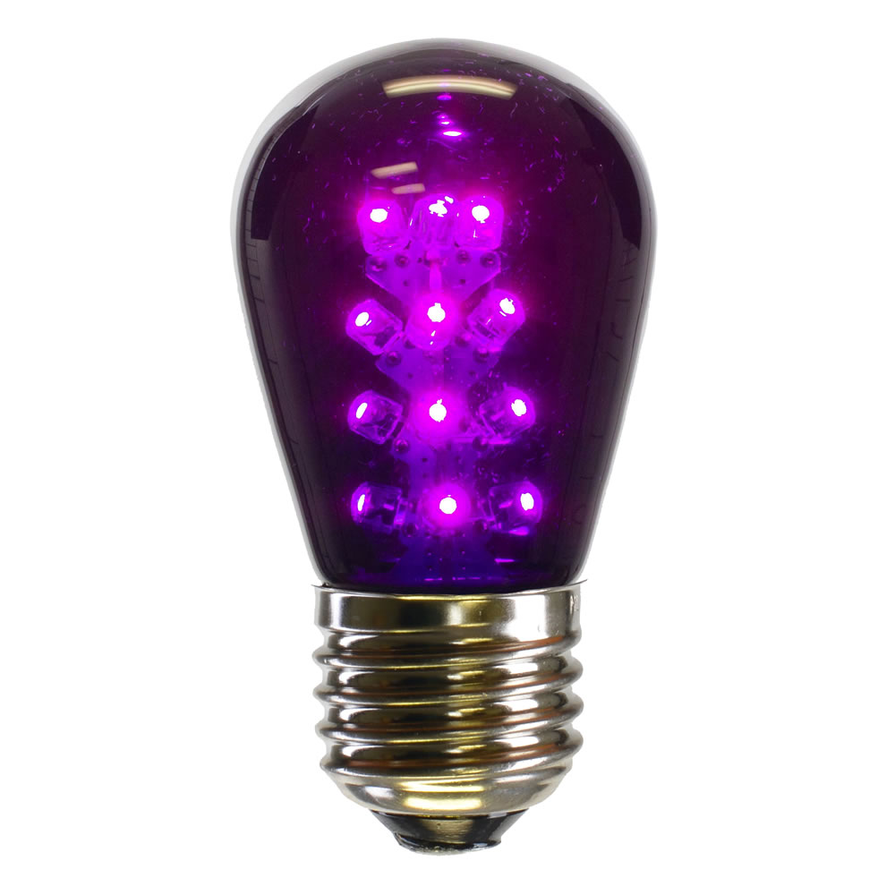 25 LED S14 Patio Transparent Purple Retrofit Replacement Bulbs